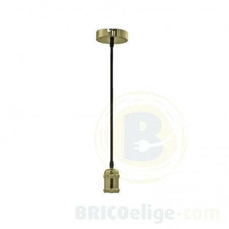 Portalámparas Colgante Metal Latón Cuero 93-121-15-025