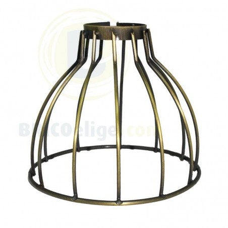 Lámpara Jaula Abierta Decorativa Vintage Oro 16-972-01-006
