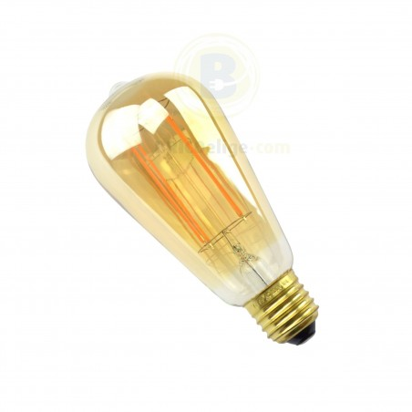 Bombilla Led Vintage Edison Dorado 6W E27 Regulable 42956