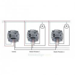 Interruptor para Centralización de Persianas 8630.3CR Niessen Skymoon