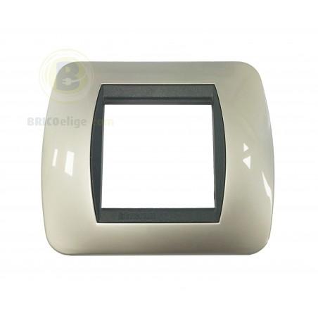 Placa Living Titanio Claro 2 módulos L4802TC