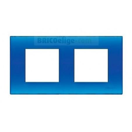 Placa Bticino Azul Jelly 2+2 Módulos N4802/2BJ