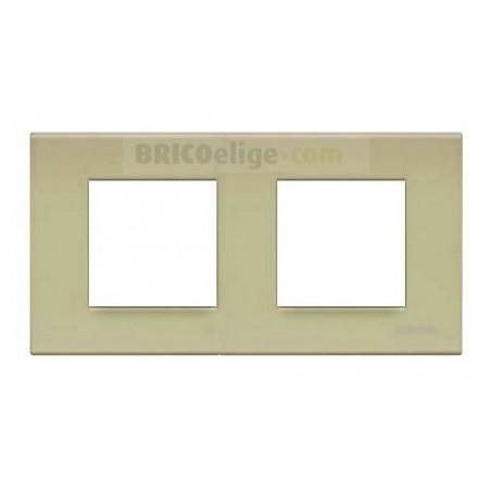 Placa Bticino Verde Té 2+2 Módulos N4802/2VE