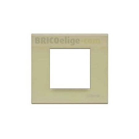 Placa Bticino Verde Té 2 Módulos N4802VE