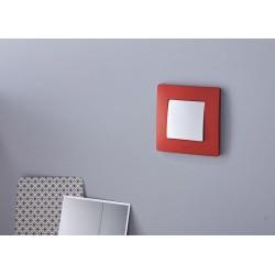 Placa Embellecedora 1 Elemento Rojo 665021 Legrand Niloé