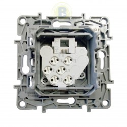 Toma de Teléfono RJ12 Aluminio 665385 Legrand Niloé