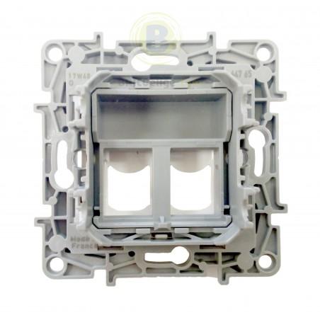 Conector Doble RJ45 Keystone Blanco 664765 Legrand Niloé