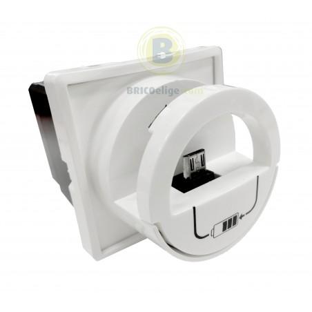Base Cargador Micro USB Blanco 664796 Legrand Niloé