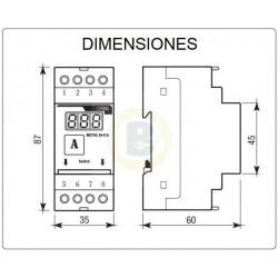 Voltímetro 600V AC + Amperímetro METRA M-V+A OB520020