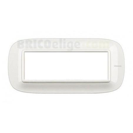 Placa Elíptica 6 Módulos Blanco Bticino Axolute HB4806HD