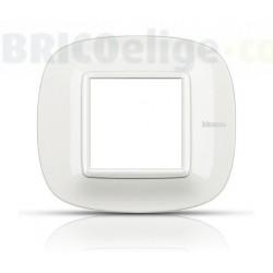 Placa Elíptica 2 Módulos Blanco Bticino Axolute HB4802HD
