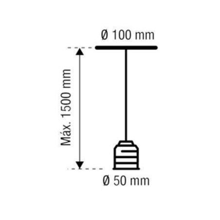 Portalámparas Metal Cromado 93-121-15-001+ Bombilla LED Globo 42963