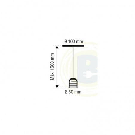 Portalámparas Colgante Cemento Cable Gris 93-631-15-181