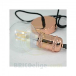 Portalámparas Colgante Metal Cobre Brillo 93-121-15-007