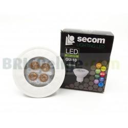 Pack 5 Bombillas LED 7W GU10 Regulables SECOM