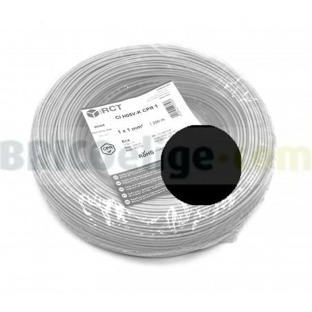 Cable flexible normal 1 mm² Negro 500V H05V-K1NE 200 M