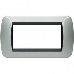 Placa 4 Módulos Aluminio L4804AL Living Internacional