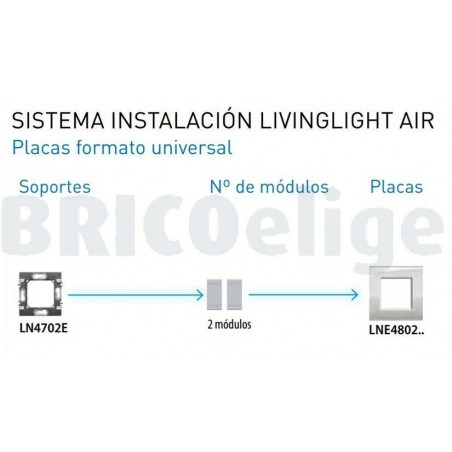 Placa 1 Ventana Tech LNE4802TE Livinglight AIR BTicino