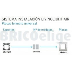 Placa 1 Ventana Oro Satinado LNE4802OF BTicino livinglight AIR