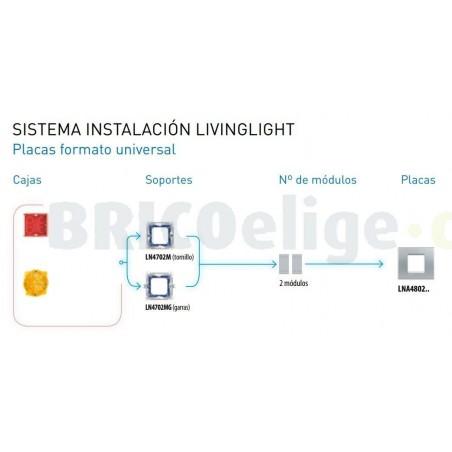 Placa 1 Ventana Tech LNA4802TE BTicino Livinglight