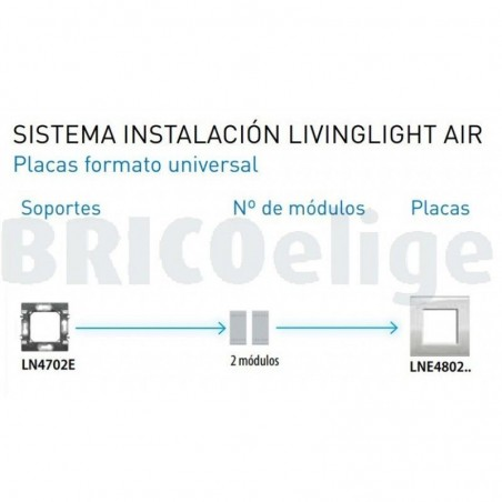 Placa 1 Ventana Antracita LNE4802AR Livinglight AIR Bticino