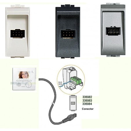Cable Conexión soporte sobremesa Classe 300 BTicino 336803