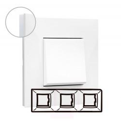 Placa Blanco Opal 3 Elementos Valena Next 741003 Legrand
