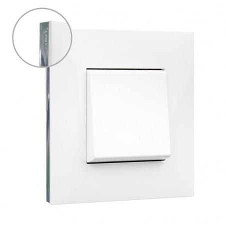 Placa 1 Elemento 741011 Blanco Cromo Valena Next Legrand