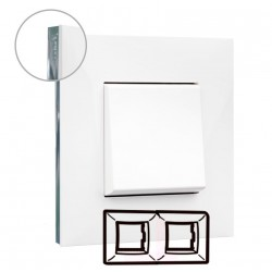 Placa Blanco Cromo 2 Elementos Valena Next 741012 Legrand