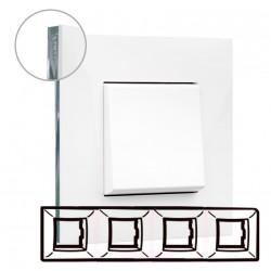 Placa 4 Elementos Legrand 741014 Valena Next Blanco Cromo