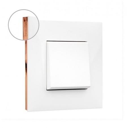 Placa 1 Elemento Blanco Oro rosa 741021 Valena Next Legrand