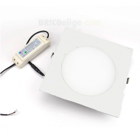Downlight Cuadrado LED 20W. Blanco 4000K DLT18020/WTSQ840