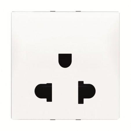 Enchufe Normal Europeo 2 Polos con Protección Infantil Blanco N2203 BL