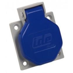 Base Schuko Empotrar IP44 16A Azul IDE 00102