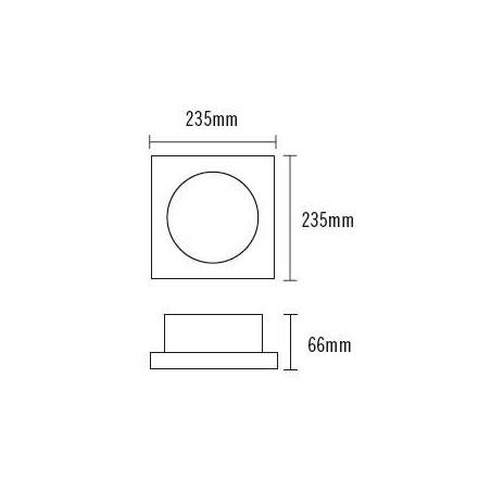 Downlight Cuadrado LED 20W. Blanco 4000K DLT18020/WTSQ840