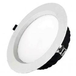 Downlight Led Redondo 12W Plata 4000K luz neutra LEDS GO