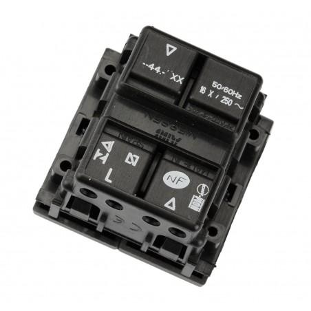 Doble Interruptor Persianas Módulo ancho N2244.1 Niessen Zenit
