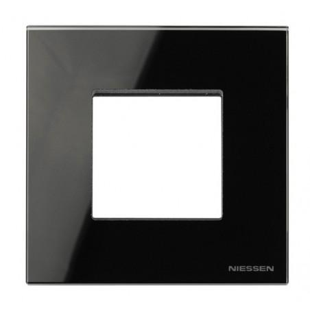 Marco Efecto Flotante 1 Ventana Ancha Cristal Negro N2271 CN Zenit