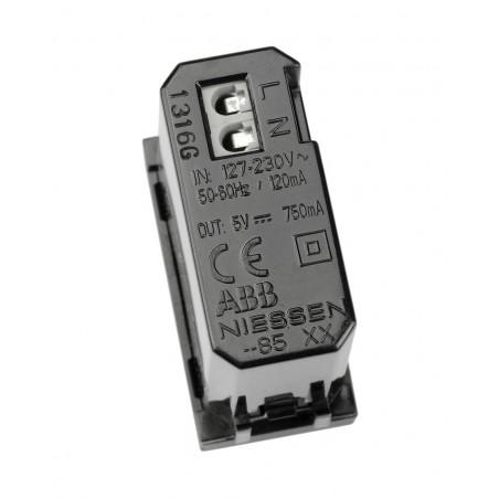 Cargador USB Módulo estrecho Niessen Zenit N2185 AN antracita
