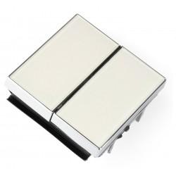 Niessen sky Tecla interruptor conmutador cristal blanco