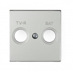 Tapa 8550.1 PL Sky Niessen Plata para Tomas TV-R / SAT