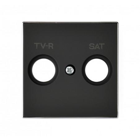 Tapa para Tomas TV-R / SAT 8550.1 NS Negro Niessen Sky