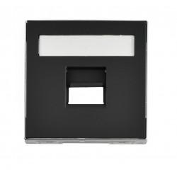 Tapa 1 Conector Niessen Sky con persiana Negro 8518.1 NS