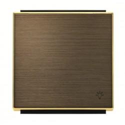 Tecla Pulsador símbolo Timbre Oro envejecido 8504 OE Niessen Sky