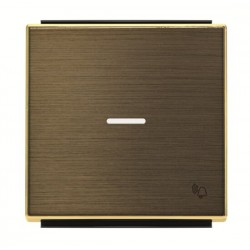 Tecla símbolo Timbre CON Visor 8504.3 OE Oro envejecido Niessen Sky