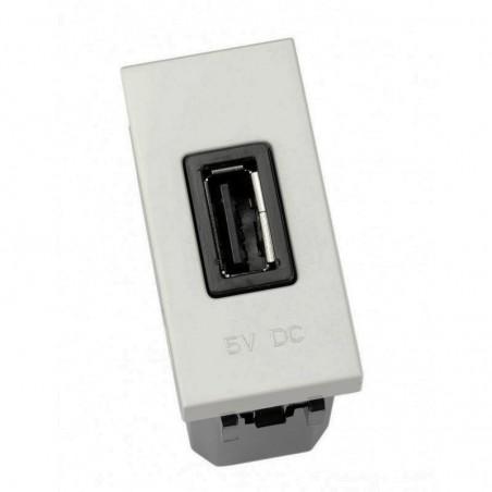 Cargador USB Plata Módulo estrecho N2185 PL Niessen Zenit