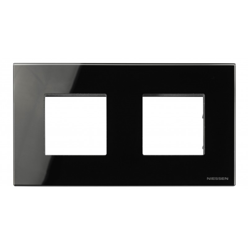 Marco Efecto Flotante 2 Ventanas Anchas Cristal Negro N2272 CN Zenit
