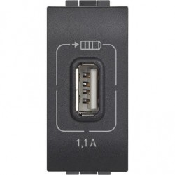 Cargador USB L4285C1 Antracita Bticino Livinglight