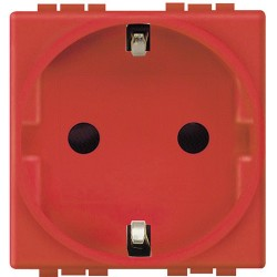 Base de Enchufe Tipo Schuko Roja 2P+T 16A. L4141R Living-Light