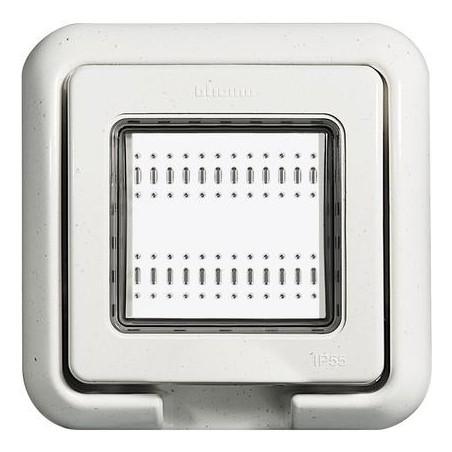 Tapa Blanca Empotrar 2 Módulos Exterior IP55 Living-Light 24602N